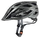 Uvex Erwachsene I-VO CC Fahrradhelm schwarz (Black/Smoke mat), 56-60 cm