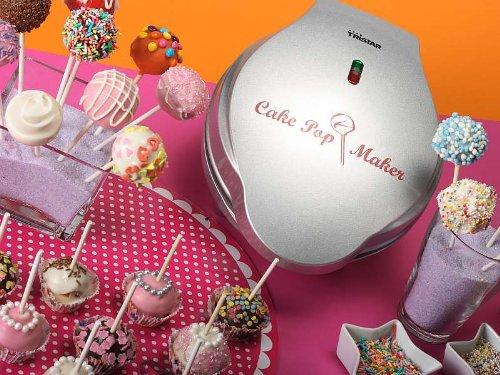 Cakepop-Maker für 12 Cake-Pops Waffeleisen Cup-Cakes Babycakes Kuchen (sparsame 700 Watt, antihaftbeschichtet, inkl. Lollipop-Sticks + Rezeptvorschläge)