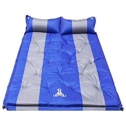 BELLAMORE GIFT Luftmatratze Aufblasbare Isomatte für 2 Personen, Tragbar Ultraleichte Sleeping bad für Camping, Reise, Outdoor, Wandern Size 192 x 132 x 5 cm