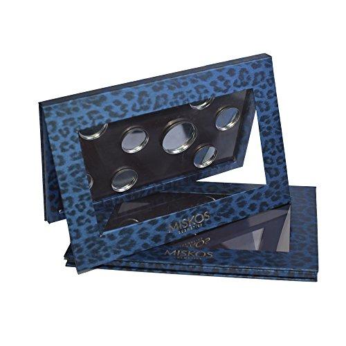 Miskos Leer Lidschatten Palette magnetisch Leopard Color Professional Eye Shadow Container Fall Für Blush Eye Lip Makeup Puder Powder Kleinen Pfannen 21,6 cm Breite (Kosmetische Fall Magnetische)