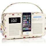 VQ Retro Mk II DAB/DAB+ Digital- und FM-Radio mit Bluetooth, Apple Lightning Dock und 'Retro Mini Hepburn Mk - Emma Bridgewater Tupfen
