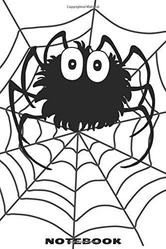 Notebook: Punktraster Notizbuch mit schönem Spinne im Netz Design für Männer und Frauen