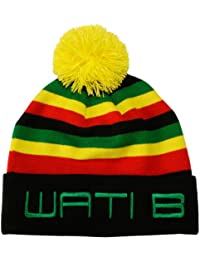 Wati B - Bonnet Homme Stripe Beanie - Black/Jamaica