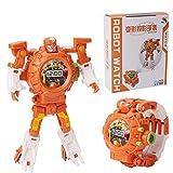 AOLVO Toy Watch Transformers Spielzeug, 3-in-1 Projektion Armbanduhr Transformation Spielzeug Figuren für Kinder, Digitaluhr Elektronische Roboter Spielzeug Geburtstags Geschenk 3-6 Jahr