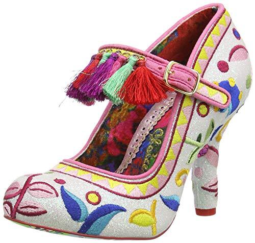 Irregular Choice Ekaterina, Zapatos de tacón con Punta Cerrada para Mujer, Rosa Pink C, 38 EU