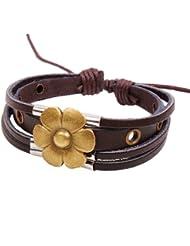 &ZHOU pulseras,3pcs, pulsera hecha a mano, la suerte pulsera de flores de perlas, joyería, pulsera creativa, regalos creativos