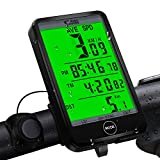 synmixx Computer da Bicicletta , Contachilometri Bici Senza Fili 27 Funzioni Impermeabile Grande...