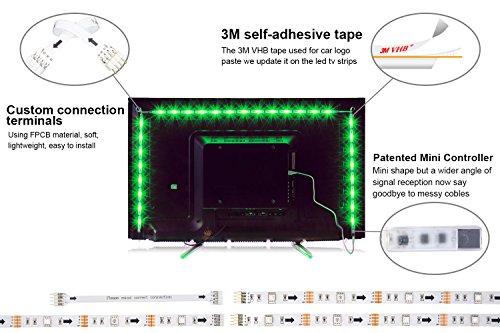11 99 14 led striptv led hintergrundbeleuchtung rgb 2m656ft led streifen fr 40 bis 60. Black Bedroom Furniture Sets. Home Design Ideas