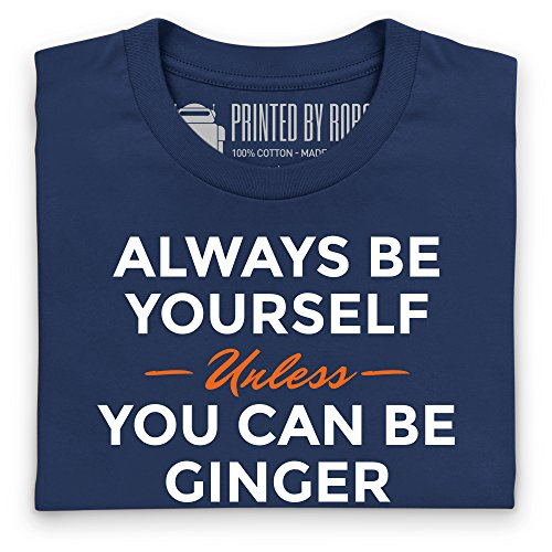 Always Be Ginger T-Shirt, Herren Dunkelblau