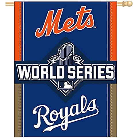 NY Mets vs. KC Royals 2015 World Series Banner by WinCraft