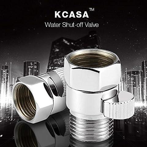 Paleo KCASA™ unión de latón válvula de control de flujo de agua stright-por la escuadra de cierre de la válvula de accesorios de