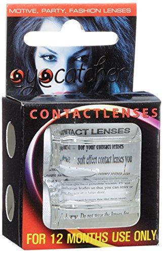 Eyecatcher Color Fun - Farbige Kontaktlinsen - Black Cat - Schwarze Katze - 1 Paar - Ideal für Karneval, Fasching, Halloween & Party