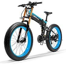 T750Plus 27 Speed 26*4.0 Fat bicicleta eléctrica plegable 1000W 48V 10Ah batería de litio