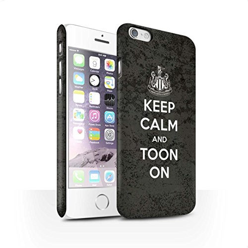 Offiziell Newcastle United FC Hülle / Matte Snap-On Case für Apple iPhone 6S / Pack 7pcs Muster / NUFC Keep Calm Kollektion Toon On