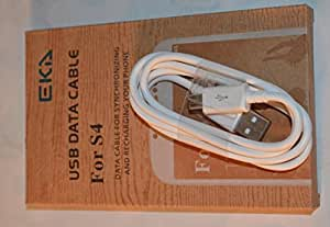 USB Synchronizing Charger Data Cable Lead for Samsung I9500 Galaxy S4, Samsung N7100 Galaxy Note 2, White