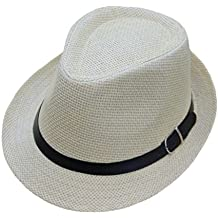 ZARLLE Sombrero De Jazz BritáNico Sombrero De Paja De Sombra De Playa Transpirable Al Aire Libre