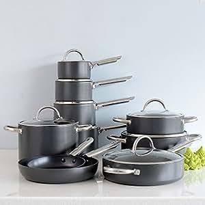 ProCook Professional Anodised Non-Stick Cookware Set 10 Piece
