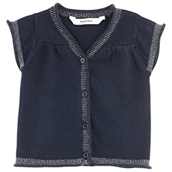 3Pommes 3518162 Baby Girl's Cotton Sleeveless Cardigan Navy Blue 18 Months
