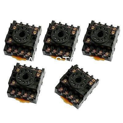 DIPU WULIAN 5pcs New DIN Rail Mounting Relay Socket PF113A 11-pin octal Base for JTX-3C MK3P JQX-10F-3Z DH48S-11 Pin Relay Socket