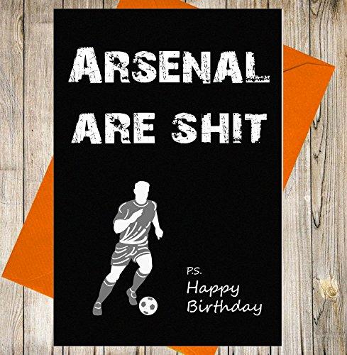 Arsenal Geburtstagskarte Witz Funny Beleidigung Fußball Fan–Einzigartiges Kreidetafel Effekt Grußkarte (Alte Arsenal-trikot)