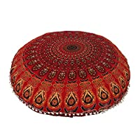 introduces the exquisite designer charm to your living room Devanshi art creations decor by welcoming this stylish cushion cover. Made from fine quality material, this cushion cover is soft to touch and easy to wash. Furthermore, the beautiful patter...