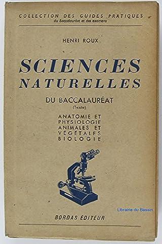 Sciences naturelles du baccalauréat (Texte)