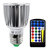zgrand RGB Farbe Strahler Leuchtmittel Fernbedienung dimmbar Flicker Lampe 5W