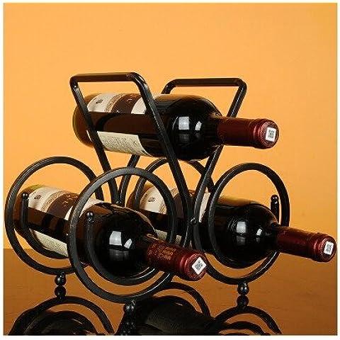 supporto bottiglia vino cremagliera vetro decorativo filo