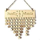 Familie Wood Geburtstag Plaque Friends reminder diy Kalender Geschenk für Home Dekoration (Family,Friends + Round Discs)