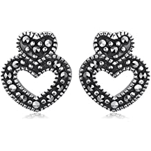 Boucles d'oreille - B10/021 - 22250 - Pendientes de mujer de plata con marcasitas