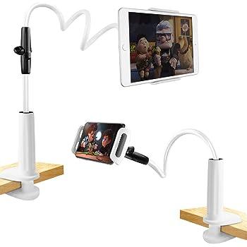 unibelin Schwanenhals Tablet Halterung, Halterung Tablet Halter Bett 360°Drehen Einstellbare und Abnehmbarer Ständer für ipad Mini, Pad Pro 2018, 3,5-10,5 Zoll Android und Apple Device