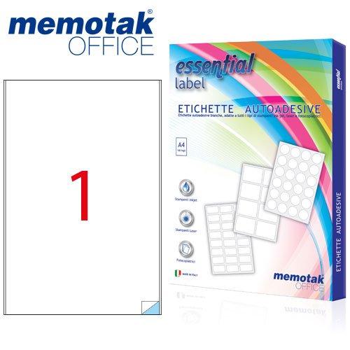 Packung mit 100Blatt A4Etiketten Aufkleber memotak Format in Millimeter 205x 297100Etiketten für Behälter