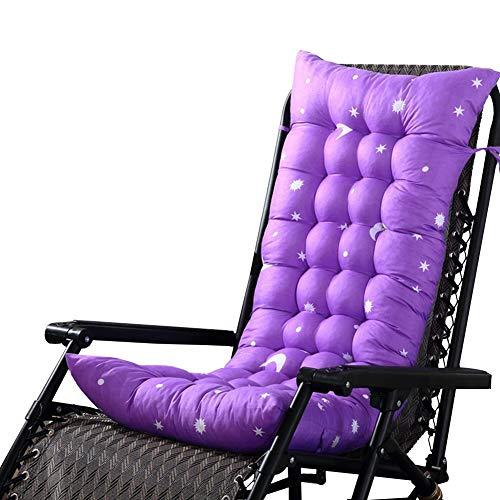 SUPERLOVE Chaise Lounge Cushion Patio Chair Polster Outdoor Matratze Rocking Lounge Polster für Gartensonnenliegen Liege Veranda Volltonfarbe