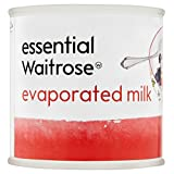 La leche evaporada esencial Waitrose 170g