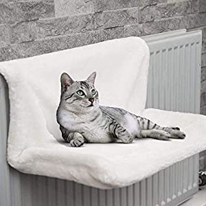 ZYBUX - Cat And Dog Radiator Bed - Warm And Cosy Pet Radiator Bed With A Strong Durable Metal Frame And Comfortable Fleece Cover - Ideal For Cats And Even Small Dogs Or Puppies from ZYBUX