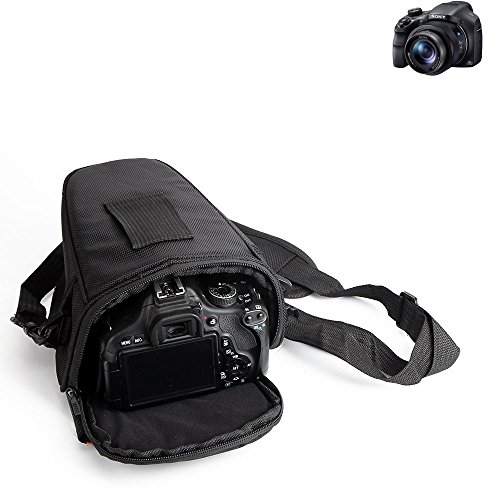 K-S-Trade pour Sony Cyber-Shot DSC-HX350 Sac Appareil Photo Reflex Saccoche Étui Pouchette Gadget Anti-Choc DSLR SLR Caméra Protection Housse Antichoc Noir (1x)