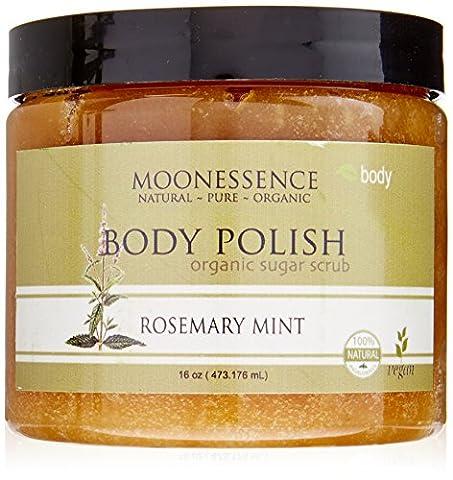 Moonessence Body Polish Organic Sugar Scrub, Rosemary Mint, 16 Ounce by MoonEssence