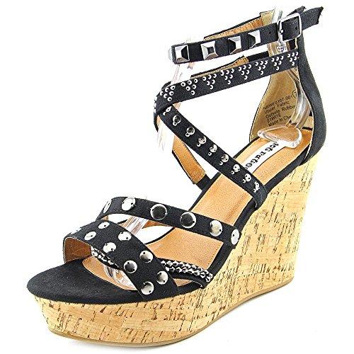 Not Rated Star Cluster Damen Stoff Keilabsätze Sandale Black