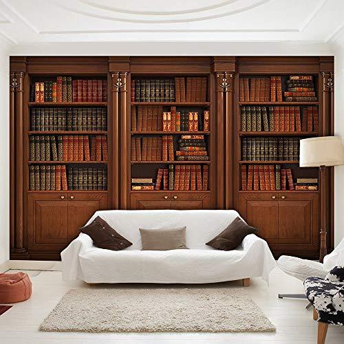 Fototapete Tapete Wanddeko Home Decor-Bibliothek Bücherregal-3D Moderne Wohnzimmer Wandbilder Design-Schlafzimmer Büro Flur Dekoration Wandbilder