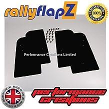 rallyflapZ Guardabarros para Citroen Saxo (1996-2003) Cantidad 4 Negro Guardafangos (4mm PVC)