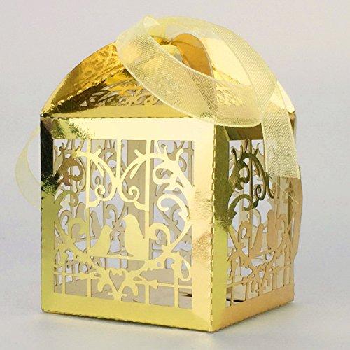 l Geschenkboxen mit Bändchen auch zum Aufhängen - Gold (Gold Vogel Käfig)