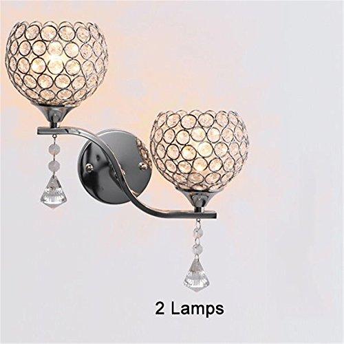 1 Lampe oder 2 Lampen Modernes Design Elegantes Interaktionsdesign Nachttisch E27 Kristall LED-Leuchten, 2 Lampen