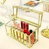 gyx Pannello di Storage, Porta di Visualizzazione Cosmetica, 18 - Pezzo Cosgrove Box, Adatto per Lipstick - Vetro di Vetro