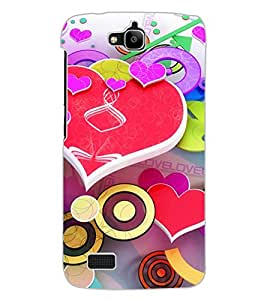 ColourCraft Love Pattern Design Back Case Cover for HUAWEI HONOR HOLLY