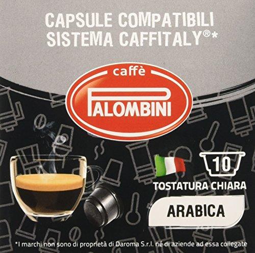 Caffè palombini arabica compatibile caffitaly - 16 confezioni da 10 capsule