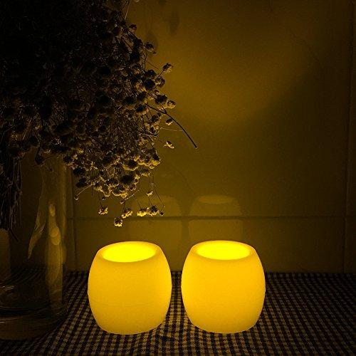 ZesGood 2Mini velas sin llama funcionan con pilas 2unidades, diámetro. 3,8x4,4cm HC