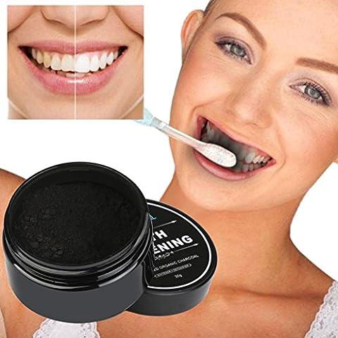 MRULIC Teeth Whitening Powder Natürliche Organische Aktivkohle Bambus Zahnpasta Bamboo