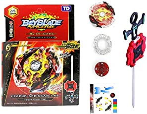 Beyblade Gyro Battling Burst Starter Legend Spriggan 7.7 Mr Top Beyblade with Launcher Grip ( Assorted Color ) - Pack of 1/