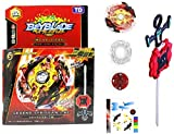 #1: Beyblade Gyro Battling Burst Starter Legend Spriggan 7.7 Mr Top Beyblade with Launcher Grip ( Assorted Color ) - Pack of 1/