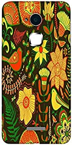 Snoogg seamless texture with flowers Solid Snap On - Back Cover all Around protection For Coolpad Note 3 (White, 16GB)